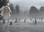 Mein Geist, wie er  noch einmal auf dem Friedhof in der Bronx, New York, NY zu sehen ist