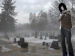 Ich auf einem  Friedhof in der Bronx, New York, NY