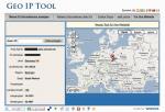 Lokalisierung laut IP-Adresse (Geoiptool.com)