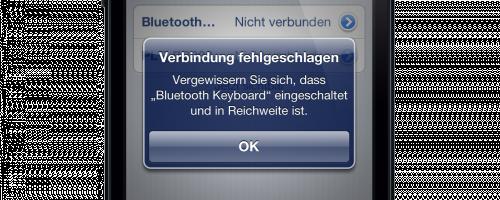 Bluetooth fehlgeschlagen?