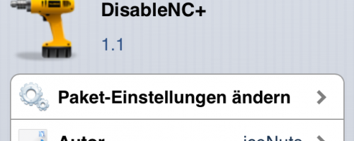 DisableNCPlus: Das Notification Center in ausgesuchten Apps abstellen