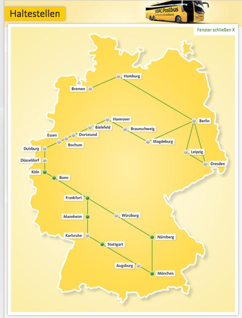 Das ADAC Postbus-Netz