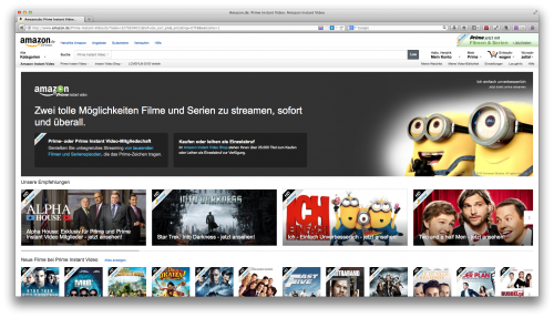 Auswahl Amazon Prime Instant Video