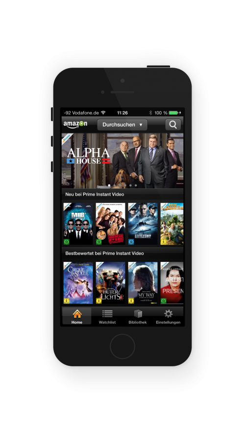 Amazon Prime Instant Video auf dem iPhone