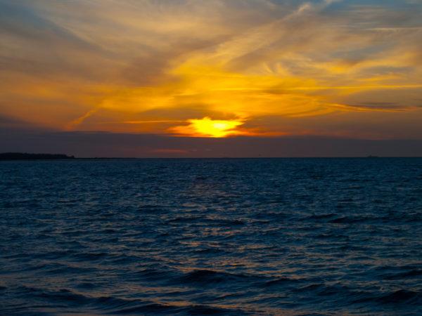 Sonnenuntergang in Puttgarden