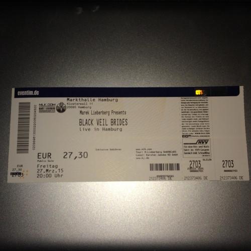 Mein Geburtstagsgeschenk, die Eintrittskarte zum BvB-Konzert