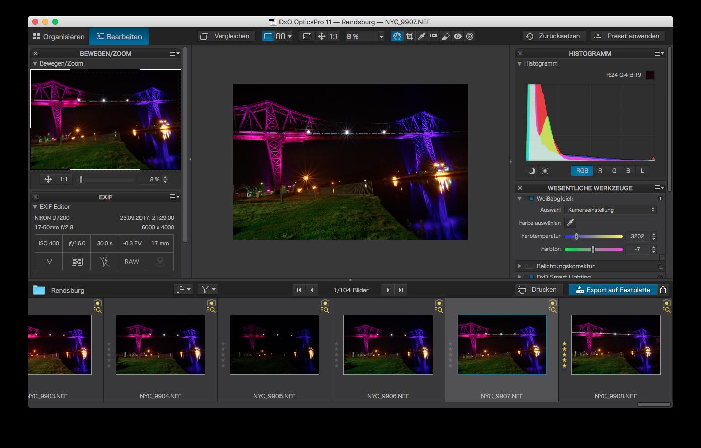 Kostenlos: RAW-Bildbearbeitungsprogramm DxO OpticsPro 11