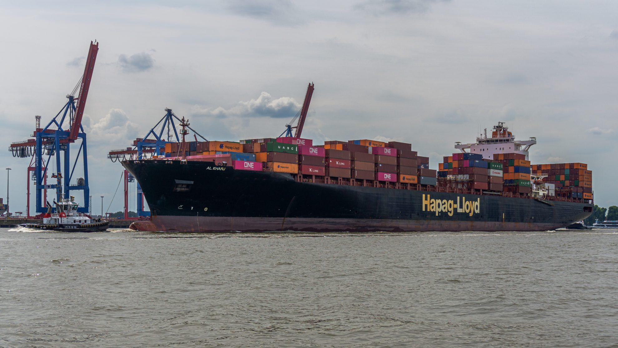 Container Ship AL KHARJ, Hamburg