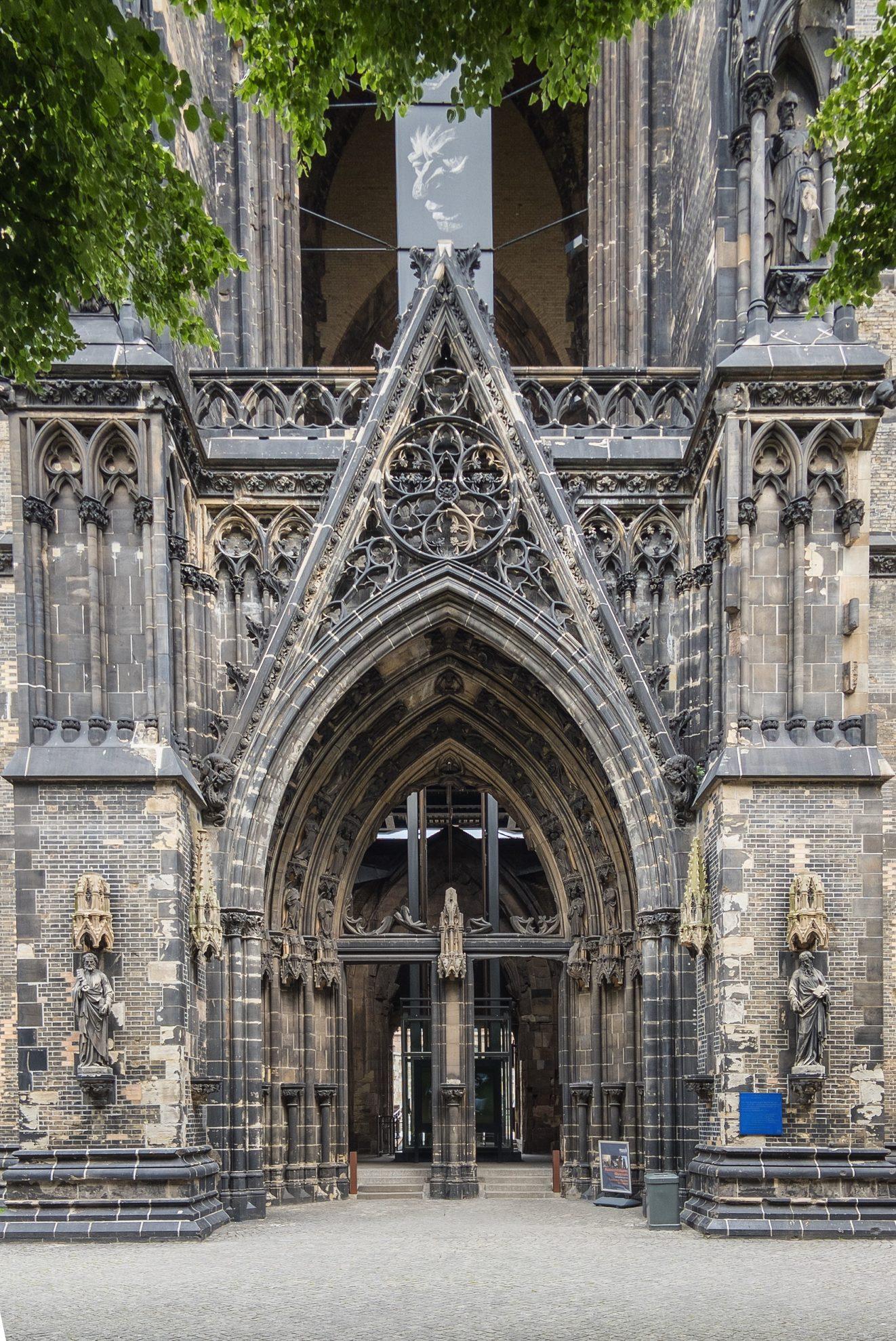 Entrance Sculpture Memorial St. Nicholas Church, Hamburg