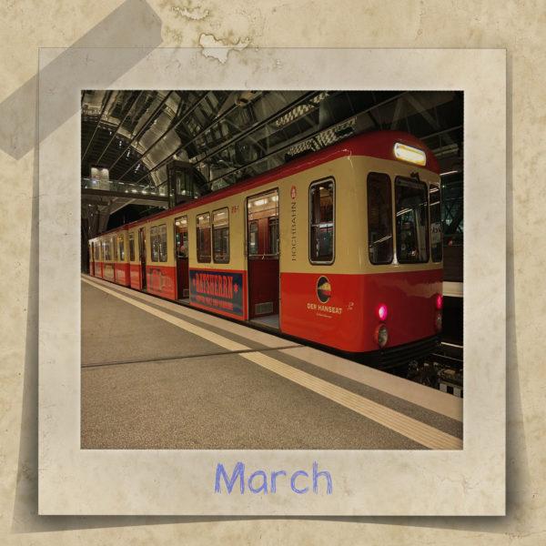 Der Hamburger Hochbahn DT1, genannt Hanseat als Partyzug
