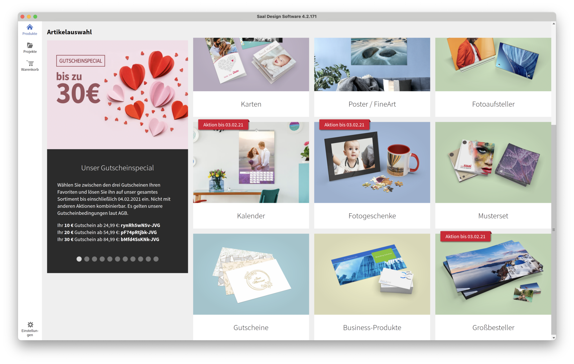 SaalDigital Software Startseite