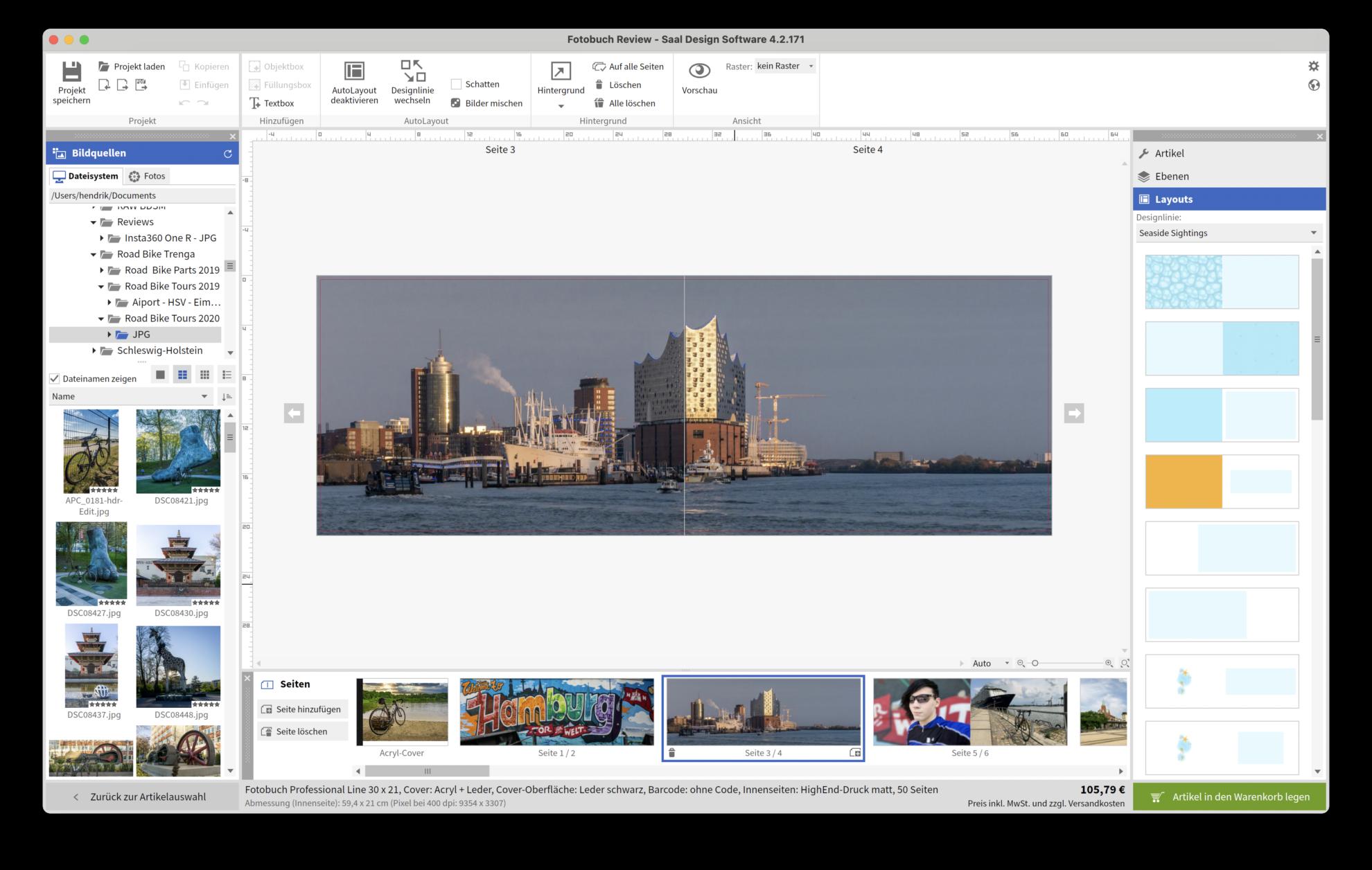 EIn Panorama als Dopelseite im Fotobuch ist auch möglich.