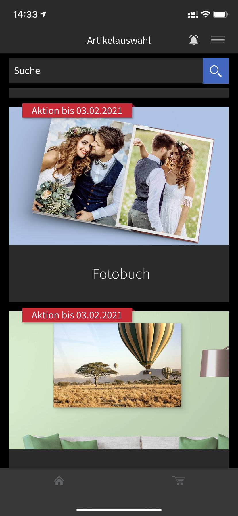 SaalDigital iPhone-App