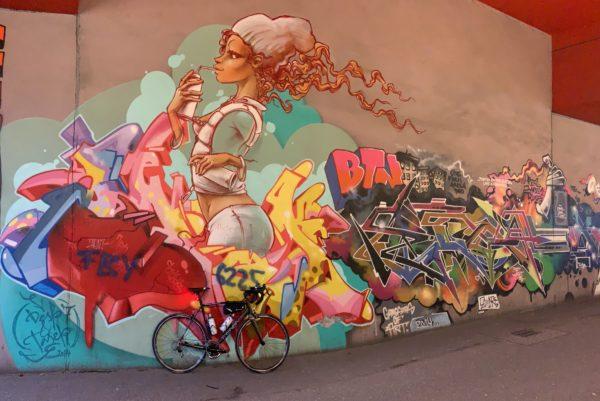 Grafitti im Füßgängertunnel Stellingen