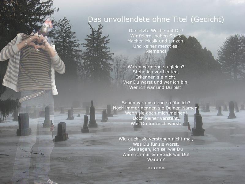 Das unvollendete ohne Titel (Gedicht)