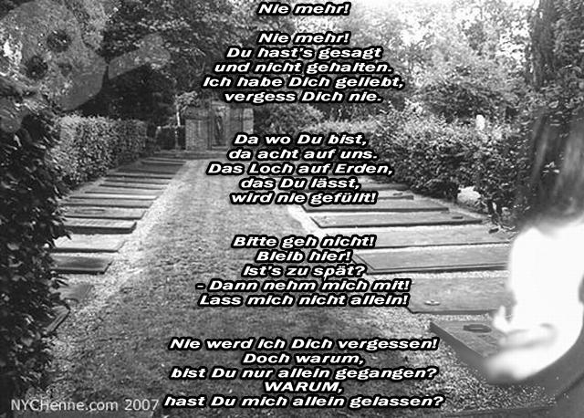 Gedicht: Nie mehr