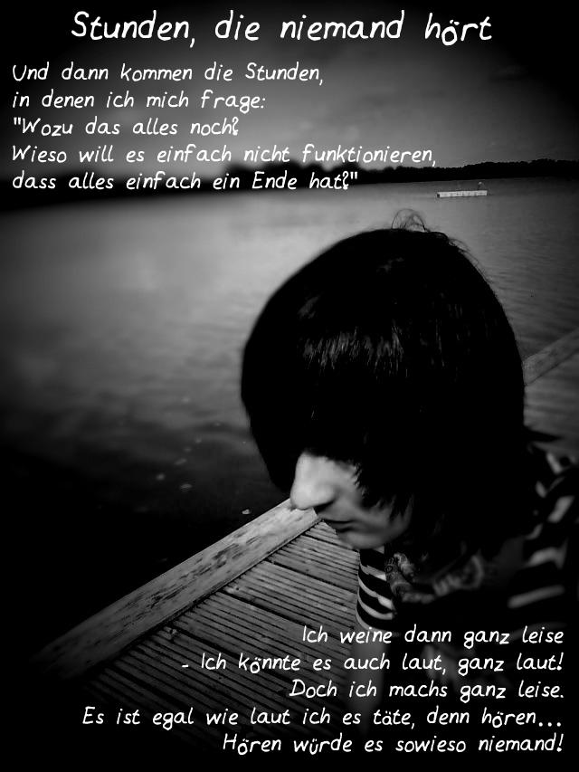 Gedicht: Stunden, die niemand hört