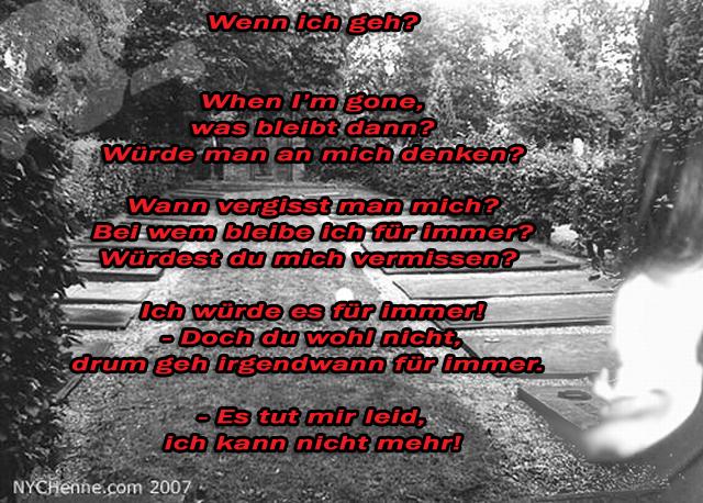 Gedicht: Wenn ich geh