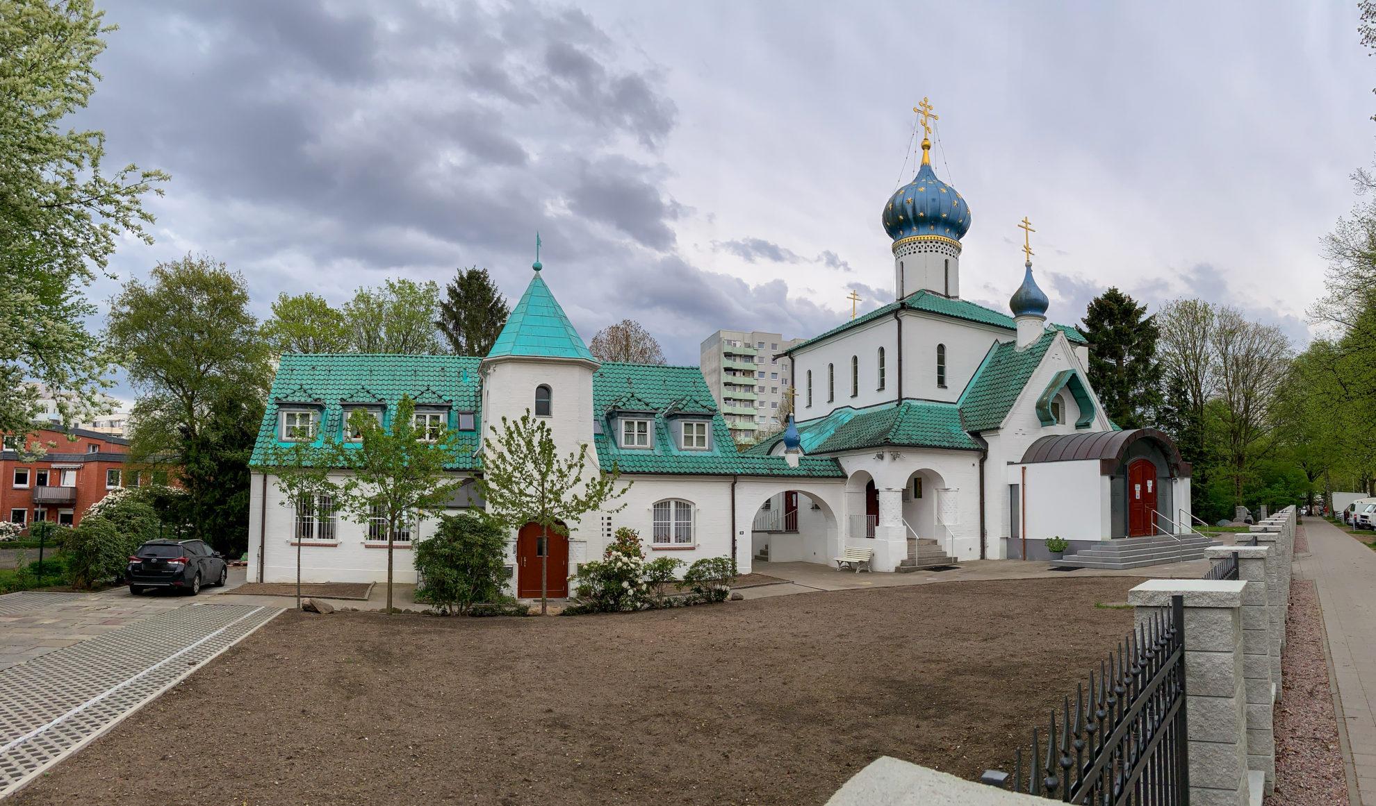 Panoramabild der Kirche des heiligen Prokopa