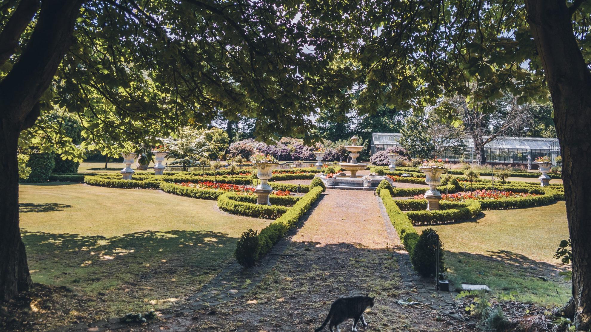 Parkanlage einer Gärtnerei