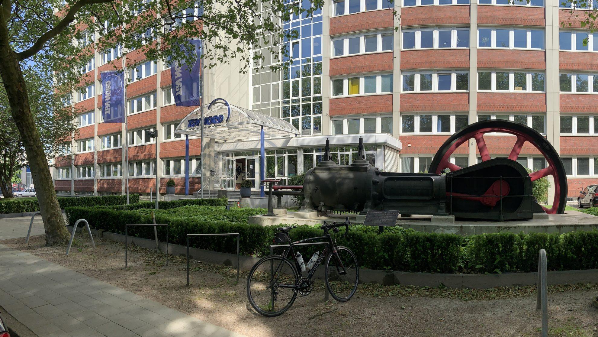 Dampfmaschine beim TÜV Nord in Hamburg