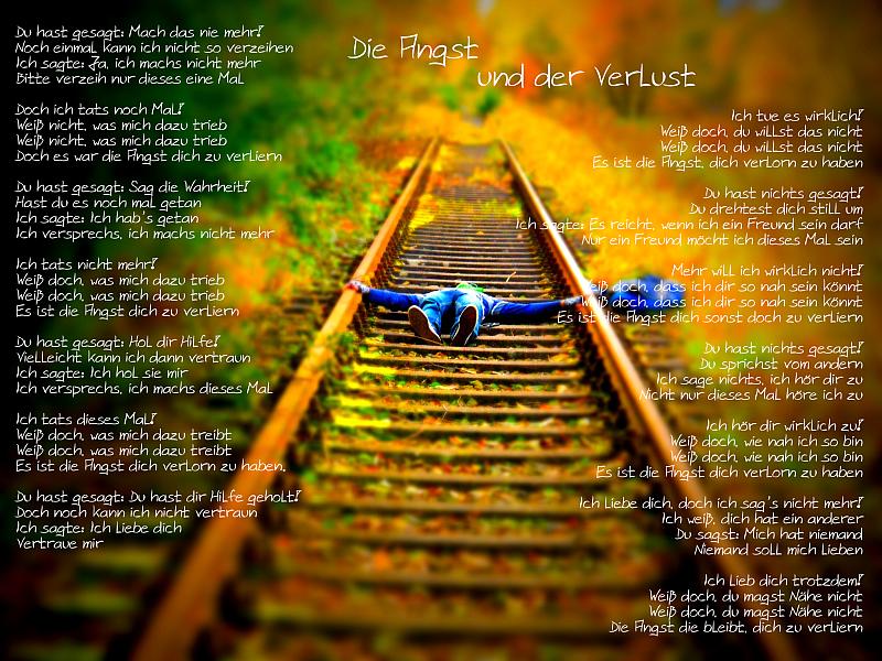 Die Angst und der Verlust - Henne auf den Gleisen