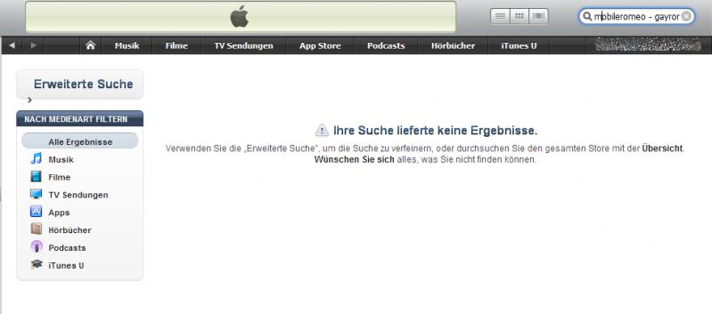 MobileRomeo nicht mehr im Apple AppStore zu finden [Update]  MobileRomeo nic...