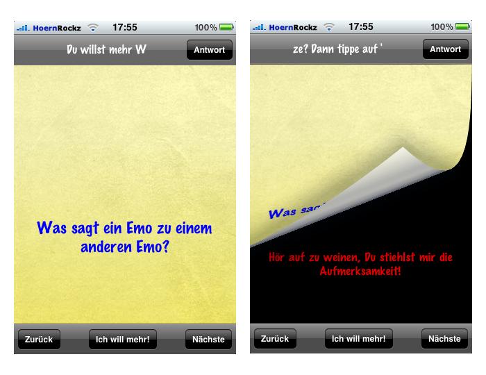 Einer der besseren Witze aus der Emo-Witze-App