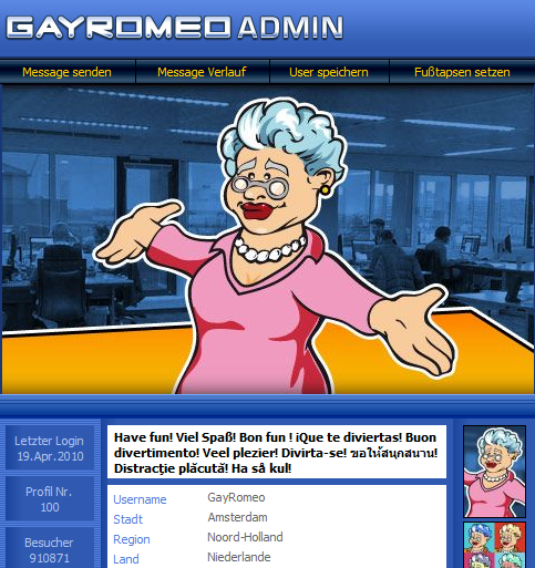 Das Profil von der GayRomeo Mutti