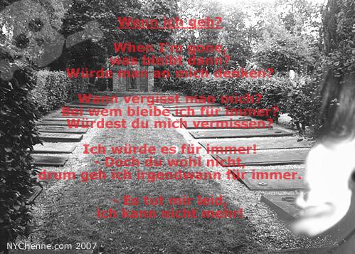 Wenn ich geh? - Poem von Hendrik
