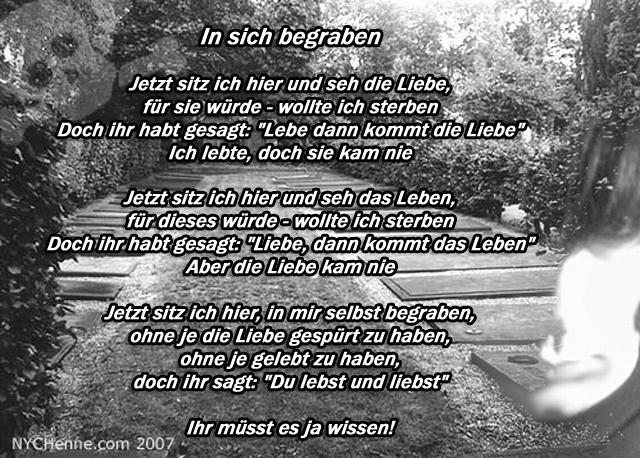 In sich begraben ein Poem von Hendrik