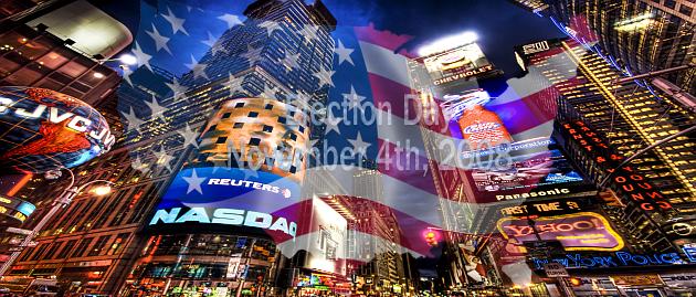 Header auf NYC-Hennes-Welt zu Wahl in den USA 2008