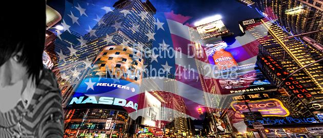 Header auf NYC-Hennes-Welt zu Wahl in den USA 2008 mit Hendrik