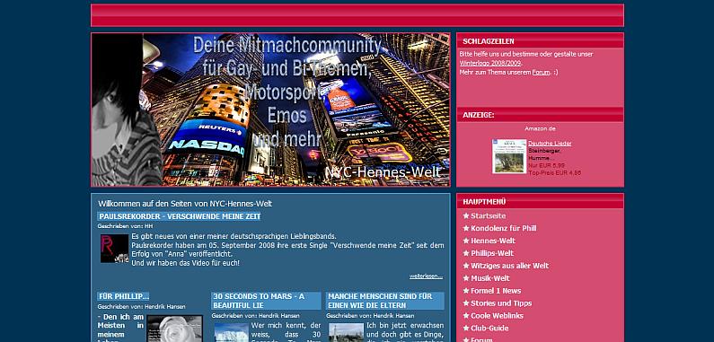 NYC-Hennes-Welt nach dem Design-Relaunch im Oktober 2008
